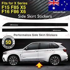 For BMW F15 F16 F85 F86 X Ser Performance Side Skirt 5D CARBON FIBER Stickers AU