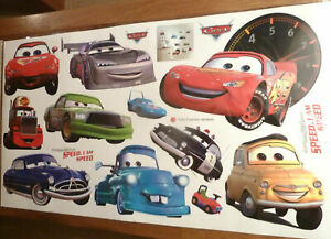 disney CARS LIGHTENING MCQUEEN  MATER WALL STICKER NURSERY/KIDS/GIRLS/BOYS ROOM