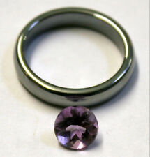 NATURAL LOOSE AMETHYST GEMSTONE 7MM ROUND CUT GEM 1.4CT FACETED AM61A