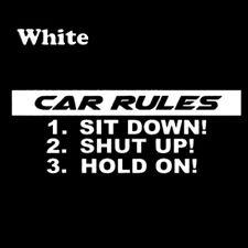 Funny Car Rules Decal Vinyl Sticker Car Styling Decal Fashion Black/Silver