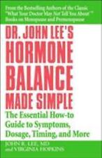 Dr. John Lee's Hormone Balance Made Simple: The Essential How-to Guide-ExLibrary