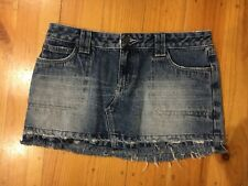 Roxy Denim Blue Jean Mini skirt Size 10
