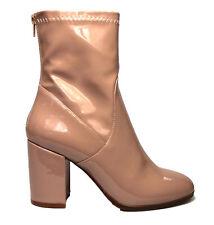 New Therapy Shoes HOXTON BEIGE LIQUID - Womens DRESS MID CALF BOOT BLOCK HEEL