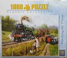 KING, WATCHING THE TRAINS 1000 pce complete puzzle.