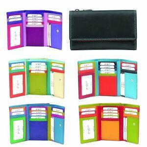 Golunski 7-116 Leather Multi Coloured Ladies RFID Protected Purse Wallet.