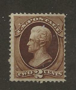 US Stamp #146 1870 Red Brown 2 Cent Jackson Mint OG Small Part Dist SCV $300