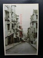 Cochrane Street Central Steps Market Vintage B&W Hong Kong Photo Postcard RPPC