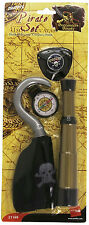 Pirate Costume Accessory Set Hook Compass Telescope Eyepatch