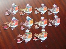 Tattered Lace Charisma Die Cut Cuts ROBIN REDBREAST XMAS Birds 10 colours 1 each