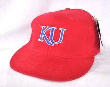 UNIVERSITY OF KANSAS JAYHAWKS Freestyle Flat brim Fitted Ball cap hat Skateboard