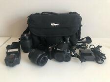 Nikon D3000 10.2MP DSLR Camera Kit w/ 18-55mm 55-200mm Lens and more