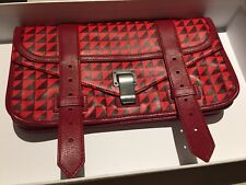 Proenza schouler PS1 Pochette Clutch Red Leather