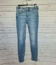 CALVIN KLEIN womens jeans mid rise skinny ankle length light blue size 26 #458