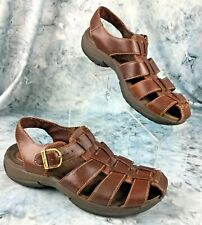 Bare Traps LeeWay Womens Brown Leather Sandals, Ankle Strap, Buckel  Size 7.5 M