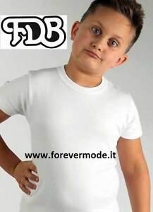 3 Maglie da bambino FDB a manica corta in caldo jersey di cotone felpato art 032
