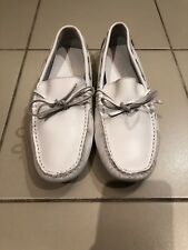 SUPERGA NWOT WHITE LEATHER LOAFERS SIZE 40