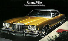 1974 PONTIAC GRAND VILLE BROCHURE -GRAND VILLE CONVERTIBLE-GRAND VILLE HARDTOP