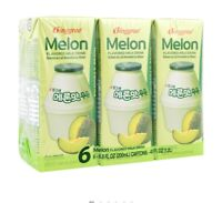 Binggrae Melon Flavor Milk (Pack of 6 )- ship within 24hrs