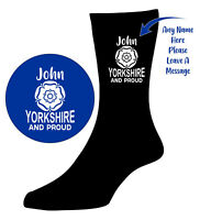 YORKSHIRE & PROUD Socks - Personalised Leeds Birthday ideal gift for United Fan