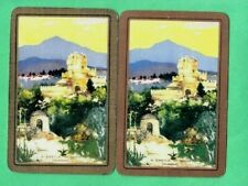 2 PLAYING SWAP CARDS ENN A CASTLE IN SPAIN PLENCIA GOLD & COPPER BORDER