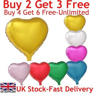 "18"" Love Heart Shape Foil Balloons Float With Helium For Party Wedding Birthday"