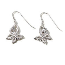 Round Butterfly Earrings Hsn $149 Victoria Wieck Sterling Silver Floating