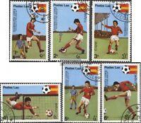 Laos 505-510 (kompl.Ausg.) gestempelt 1981 Fußball-WM 1982, Spanien