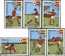 Laos 505-510 (edición completa) usado 1981 Fútbol-WM 1982, España