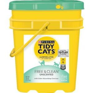 35 lb. Pail Clumping Cat Litter, Free Clean Unscented Multi Cat Litter