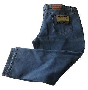 Mustang Mens Big Plus Blue Stretch Jeans Size 54 / 137cm Short Stout Leg Length