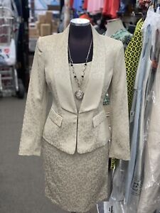 """KASPER DRESS AND JACKET/CHAMPAGNE/SIZE 12/LENGTH 39""""/LINED/RETAIL$240/NEW W TAG"""