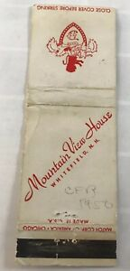 Matchbook Cover Mountain View House Whitefield NH