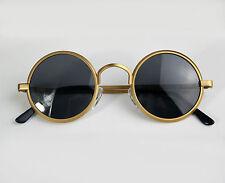 round gold sunglasses John 1970s polarized lens retro Steampunk Hi Tek