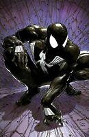 Spider-Man 1 Facsimile Clayton Crain NYCC Virgin w/ COA Black Suit SOLD OUT NM+