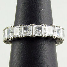 SPECIAL ORDER 14K SOLID GOLD R00065 4CT CZ TOTAL PRINCESS CUT ETERNITY BAND RING