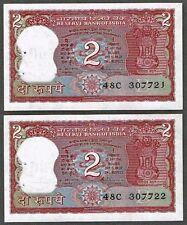 "India ""Venkitaramanan"" (ND) Whole Tiger Design, 2-Rupee {DOUBLE} AU Notes: P53Ae"
