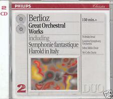 BERLIOZ GREAT ORCHESTRAL WORKS 2 CD SIR COLIN DAVIS