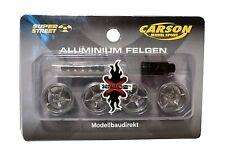 Alufelgen / Aluminiumfelgen 1:24 x-mods 4 Felgen aus Alu Carson 408002 NEU & OVP