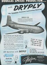 1951 Flexfirm Products Ad Douglas C-124 Globemaster Cargo Plane Transport