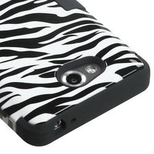 For MetroPCS LG Spirit 4G MS870 IMPACT TUFF HYBRID Case Phone Cover Zebra