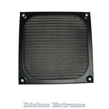120mm Metal Case Fan Air Filter Dustproof Mesh Grill Guard Black & Silver