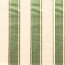 Lee Jofa Cotton Bergamo Stripe Green White Upholstery Fabric ONLY 12.5 yds LEFT!