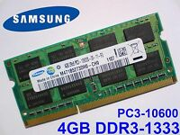 4GB DDR3 1333 Mhz PC3-10600S SAMSUNG M471B5273DH0-CH9 SODIMM LAPTOP RAM MEMORY
