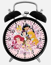 "Disney Princess Alarm Desk Clock 3.75"" Home or Office Decor W236 Nice For Gift"