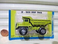 Lesney Matchbox 1974 MB28A PEA GREEN DUMP TRUCK Spiro Wheels Black Axle Cover Nu