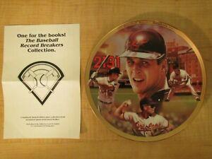 1995 Cal Ripken Jr Limited Collectors Plate 2131 Record Breakers Bradford +Book