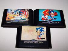 SONIC THE HEDGEHOG 1, 2 & SPINBALL-Sega Mega Drive-REGNO UNITO PAL-solo cart