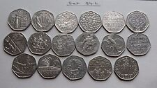 50p x17 Collectible Commemorative Coin Hunt No Olympic, Kew Gardens or Beatrix P
