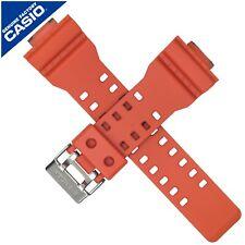 Genuine Casio Watch Strap Band for GA-100L-4A GA100L GA 100 GA 100L ORANGE BLACK