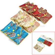 12x Sachets Pochettes Sacs Bijoux Cadeau Fête en Satin Multi Couleurs Enveloppes